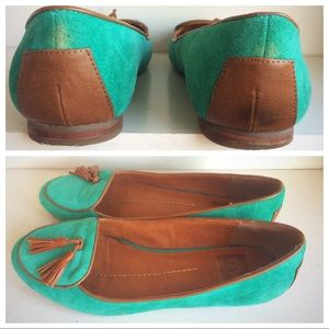 Dolce Vita Shoes - Dolce Vita teal suede loafers